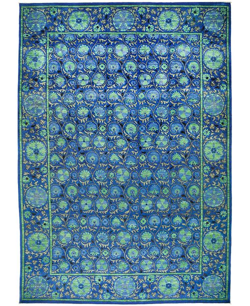 """Timeless Rug Designs CLOSEOUT! One of a Kind OOAK512 Sapphire 12'2"""" x 17'9"""" Area Rug"""