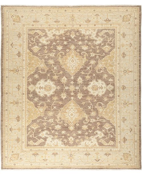 "Timeless Rug Designs CLOSEOUT! One of a Kind OOAK653 Mocha 8'2"" x 9'4"" Area Rug"