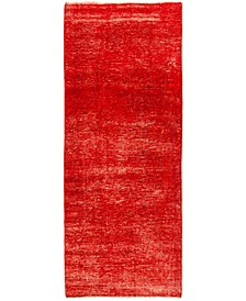 "CLOSEOUT! One of a Kind OOAK1373 Red 3'4"" x 9'1"" Runner Rug"