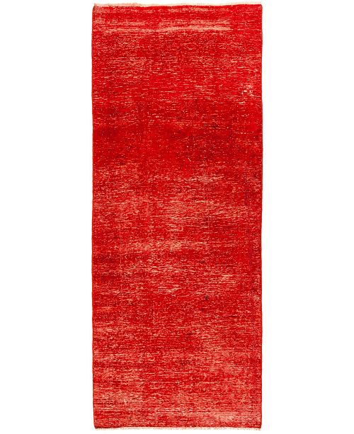 "Timeless Rug Designs CLOSEOUT! One of a Kind OOAK1373 Red 3'4"" x 9'1"" Runner Rug"