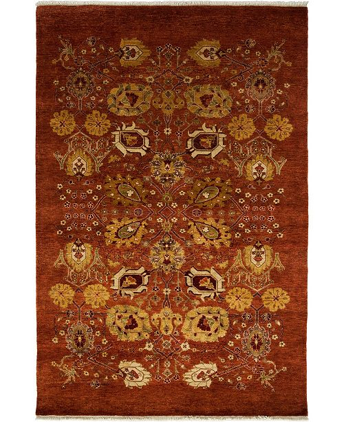 """Timeless Rug Designs CLOSEOUT! One of a Kind OOAK3682 Cinnamon 4'10"""" x 7'4"""" Area Rug"""