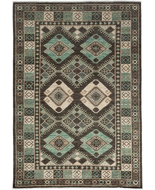 "Timeless Rug Designs CLOSEOUT! One of a Kind OOAK3502 Olive 6'3"" x 8'9"" Area Rug"