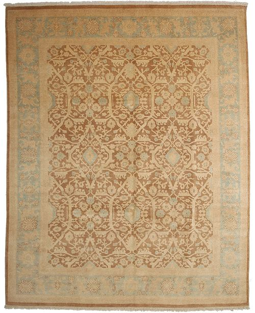"Timeless Rug Designs CLOSEOUT! One of a Kind OOAK4020 Mocha 8' x 9'10"" Area Rug"