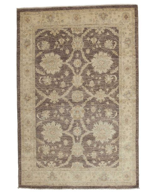 """Timeless Rug Designs CLOSEOUT! One of a Kind OOAK3814 Mocha 4'3"""" x 6'5"""" Area Rug"""