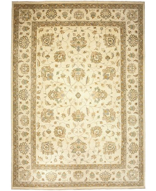 "Timeless Rug Designs CLOSEOUT! One of a Kind OOAK3844 Cream 9'10"" x 14' Area Rug"