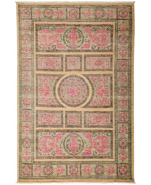 """Timeless Rug Designs CLOSEOUT! One of a Kind OOAK3131 Red 5'2"""" x 7'7"""" Area Rug"""