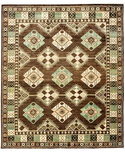 "Timeless Rug Designs CLOSEOUT! One of a Kind OOAK3179 Brown 8'2"" x 9'10"" Area Rug"