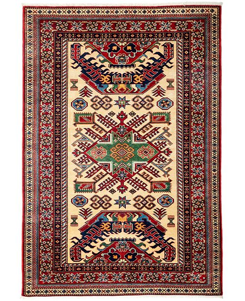 """Timeless Rug Designs CLOSEOUT! One of a Kind OOAK3130 Red 4'4"""" x 6'1"""" Area Rug"""