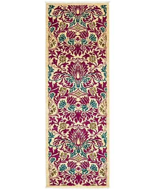 """Timeless Rug Designs CLOSEOUT! One of a Kind OOAK3228 Red 2'6"""" x 8'6"""" Runner Rug"""