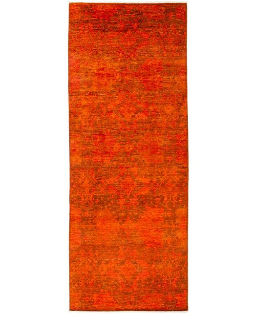 "Timeless Rug Designs CLOSEOUT! One of a Kind OOAK3112 Red 4'10"" x 12'9"" Runner Rug"