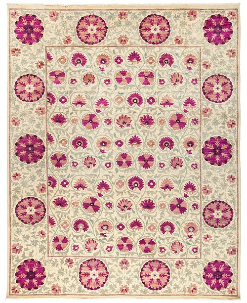 """Timeless Rug Designs CLOSEOUT! One of a Kind OOAK3047 Red 9'1"""" x 11'4"""" Area Rug"""
