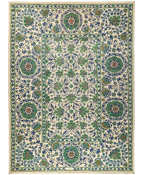 """Timeless Rug Designs CLOSEOUT! One of a Kind OOAK3013 Cream 10' x 13'4"""" Area Rug"""