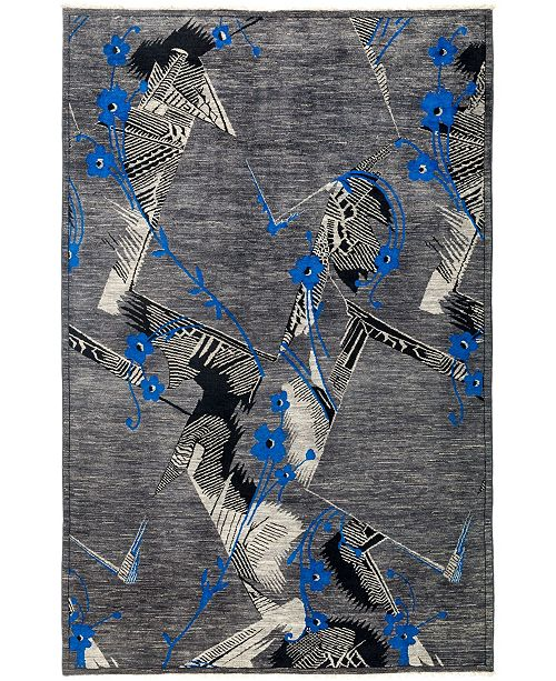 "Timeless Rug Designs CLOSEOUT! One of a Kind OOAK2967 Slate 6' x 9'1"" Area Rug"