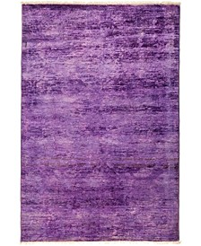 "CLOSEOUT! One of a Kind OOAK2932 Lilac 4'1"" x 5'10"" Area Rug"