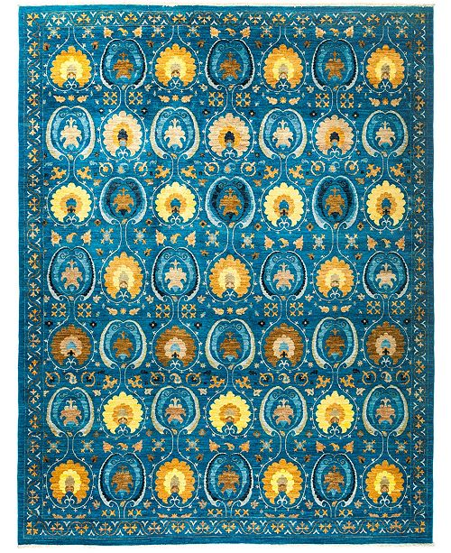 """Timeless Rug Designs CLOSEOUT! One of a Kind OOAK2898 Turquoise 9'1"""" x 11'10"""" Area Rug"""