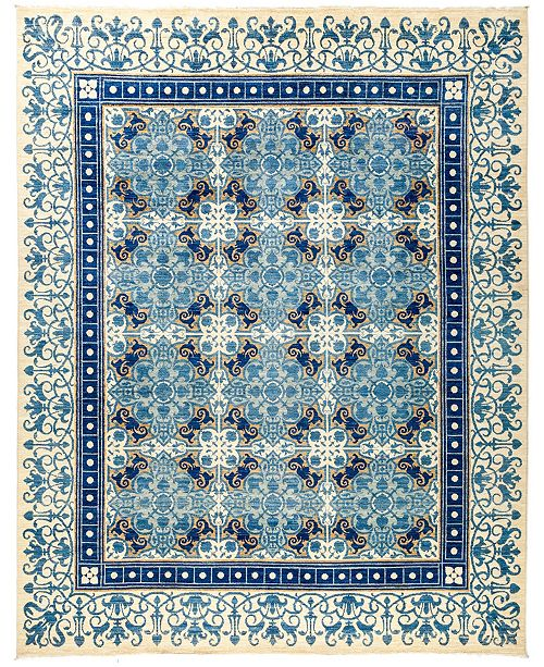 """Timeless Rug Designs CLOSEOUT! One of a Kind OOAK2886 Sapphire 8'1"""" x 10'2"""" Area Rug"""