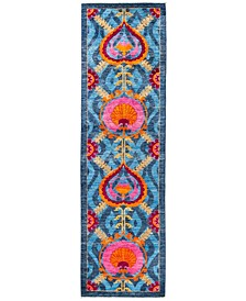 """CLOSEOUT! One of a Kind OOAK2855 Turquoise 3'1"""" x 10'9"""" Runner Rug"""