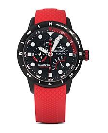 Regatta VIP Day Retrograde Red Silicone Performance Timepiece 46mm