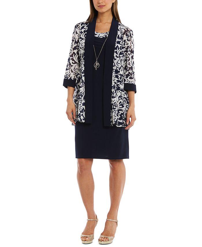 R & M Richards - Dress & Printed Jacket