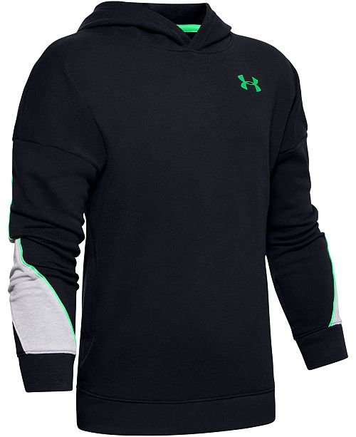 Under Armour Big Boys Rival Colorblocked French Terry Hoodie