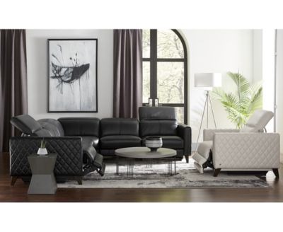 Jaconna Leather Sectional Sofa Collection, Created for Macy's