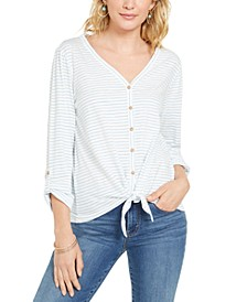 Striped Tie-Front Top, Created for Macy's