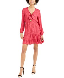 Ruffled Bow-Tie Mini Dress, Created For Macy's
