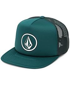 Men's Full Frontal Cheese Graphic-Print Logo Trucker Hat