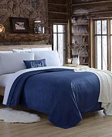 Blanket Sheet Set with Reversible Faux Mink Flat Sheet - Queen
