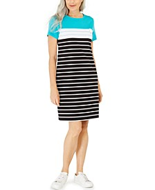 Sport-Stripe Dress, Created for Macy's