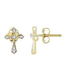 Diamond (1/20 ct. t.w.) Earrings  in  10k Yellow Gold