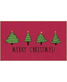 "Christmas Trees Accent Rug, 18"" x 30"""