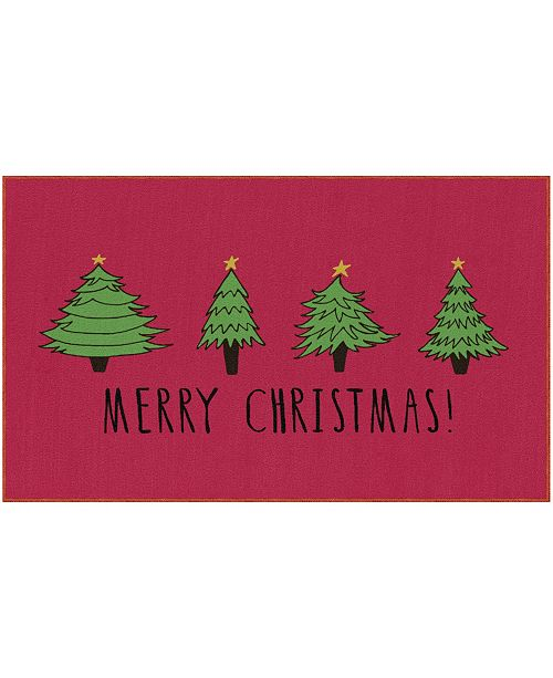 """Mohawk Christmas Trees Accent Rug, 18"""" x 30"""""""