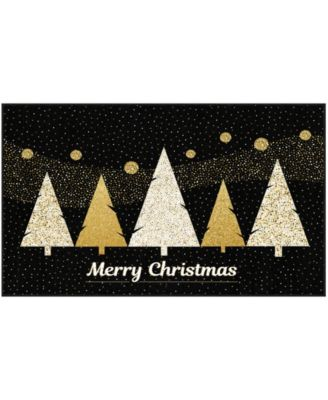 Merry Polkadot Trees Accent Rug, 18
