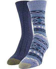 Women's 2-Pk. Recycled Fair Isle Boot Socks
