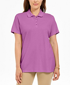 Petite Cotton Piqué Polo Top, Created for Macy's