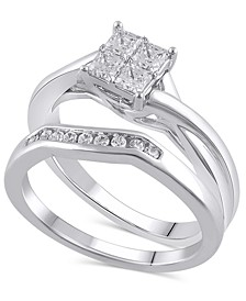 Certified Diamond (5/8 ct. t.w.) Bridal Set in 14K White Gold