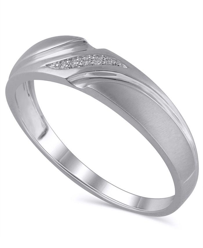 Macy's - Men's Certified Diamond Accent Ring in 14K White Gold