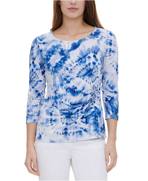 Calvin Klein Tie-Dyed Lace-Up Top