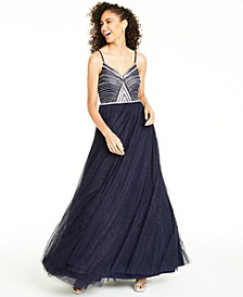 Juniors' Embellished Gown, Created For Macy's