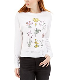 Juniors' Flower Graphic T-Shirt