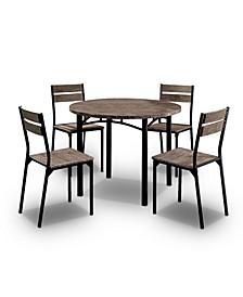 Quinlin Antique Brown 5-Piece Dining Set