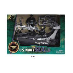 Excite U.s. Navy Seals Figure Playset with Speedboat
