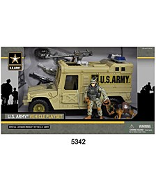 U.S. Army Figure Playset with Vehicle