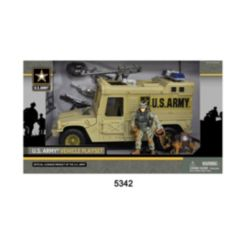 Excite U.s. Army Figure Playset with Vehicle