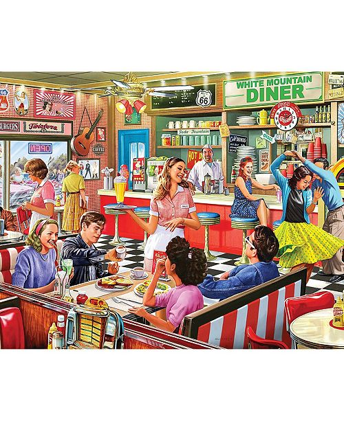 White Mountain Puzzles American Diner - 1000 Piece Jigsaw Puzzle