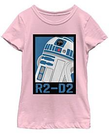 Star Wars Big Girl's Galaxy of Adventures R2-D2 Poster B1P Short Sleeve T-Shirt