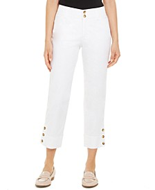 Button-Cuff Tummy Control Capri Pants, Created for Macy's