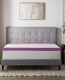 "3"" Lavender Memory Foam Mattress Topper Collection"
