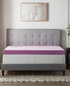 "4"" Lavender Memory Foam Mattress Topper Collection"